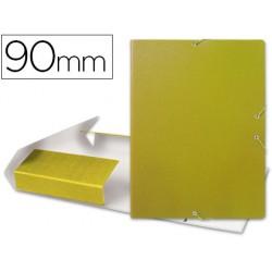 Carpeta proyectos liderpapel folio lomo 90mm carton gofrado
