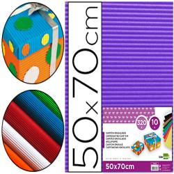 Carton ondulado liderpapel 50 x 70cm 320g/m2 violeta 37647-CN13