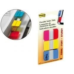 Banderitas separadoras rigidas dispensador 3 colores post-it