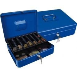"Caja caudales q-connect 12"" 300x240x90 mm azul con portamonedas"