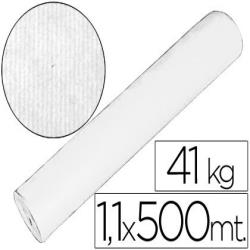 Papel kraft blanco 1,10 mt x 500 mts especial para embalaje