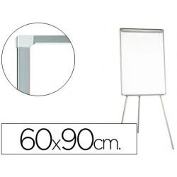 Pizarra blanca q-connect con tripode 90x60x195cm para