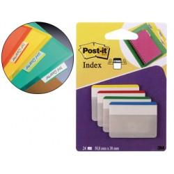 Banderitas separadoras rigidas dispensador 4 colores post-it