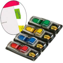Banderitas separadoras flechas dispensador 4 colores