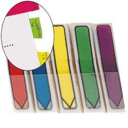 Banderitas separadoras flechas dispensador colores