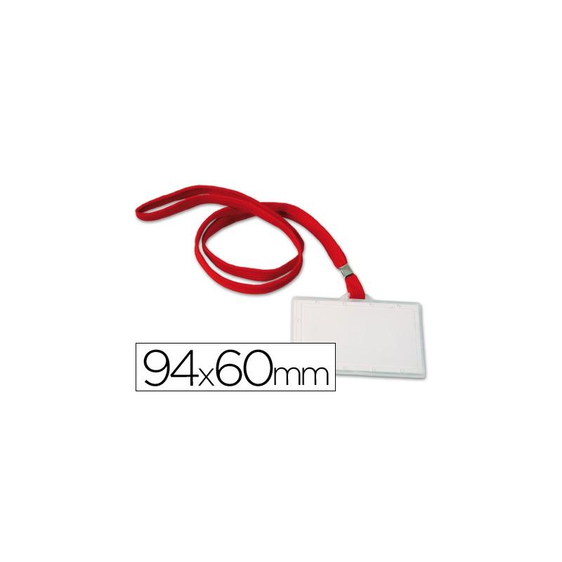 Identificador q-connect kf03303 con cordon plano rojo y