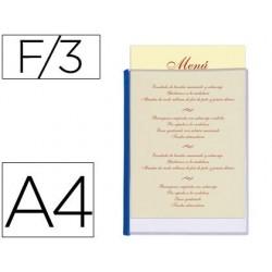 Porta menus liderpapel pvc din a4 con 3 fundas 37684-PM01