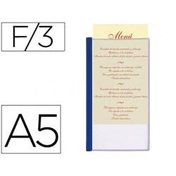 Porta menus liderpapel pvc din a5 con 3 fundas 37686-PM02