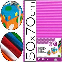 Carton ondulado liderpapel 50 x 70cm 320g/m2 fucsia 37637-CN03