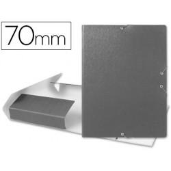 Carpeta proyectos liderpapel folio lomo 70mm carton gofrado