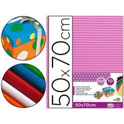 Carton ondulado liderpapel 50 x 70cm 320g/m2 rosa 37638-CN04