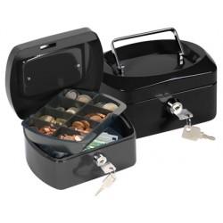 "Caja caudales q-connect 6"" 152x115x80 mm negra con portamonedas"