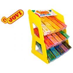 Plastilina jovi 70 expositor sobremesa 180 unidades colores