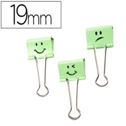 Pinza metalica rapesco reversible 19 mm sonrisas verde cajita