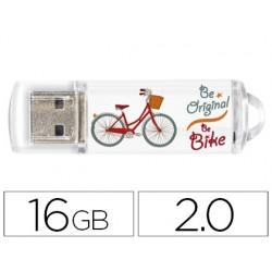 Memoria usb techonetech flash drive 16 gb 2.0 be bike