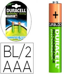 Pila duracell recargable staycharged aaa 800 mah blister de 2