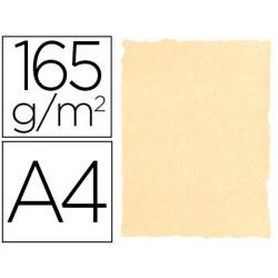 Papel color liderpapel pergamino con bordes a4 165g/m2 crema