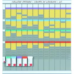 Kit planificacion de tarjetas t nobo 66x80 cm 12 columnas 2x32