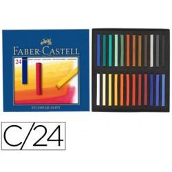 Tiza pastel faber castell estuche carton de 24 unidades colores