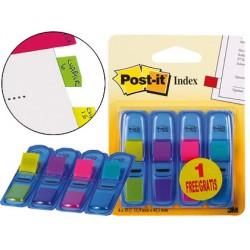Banderitas señalizadoras post-it 3+1 gratis clipstrip