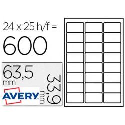 Etiqueta adhesiva avery para congelador blanca 63,5x33,9 mm