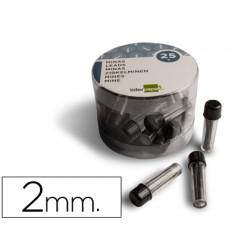 Minas liderpapel grafito para compas 2 mm estuche de 3 minas