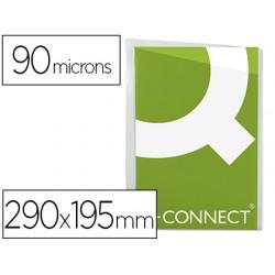 Funda protectora q-connect corte oblicuo 290x195 cristal sin