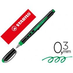 Rotulador stabilo roller ball bl@ck 0,3 mm verde 150763-1016/36