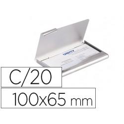 Tarjetero durable aluminio capacidad 20 tarjetas de visitas