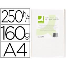 Papel fotocopiadora q-connect ultra white din a4 160 gramos