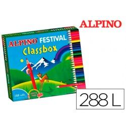 Lapices de colores alpino festival classbox caja de 288