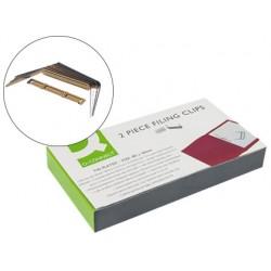 Encuadernador fastener q-connect dorado caja de 100