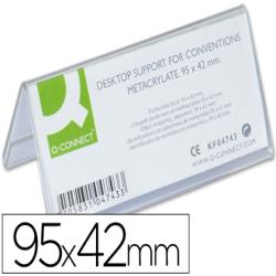 Identificadores sobremesa q-connect metacrilato tamaño 95x42 mm