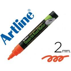 Rotulador artline pizarra verde negra epw-4 na color naranja