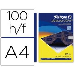 Papel carbon pelikan azul tamaño a-4 -caja de 100 unidades
