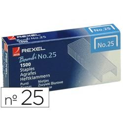 Grapas rexel n. 25 21/4 -caja de 1500 46701-05020