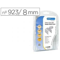 Grapas rapesco galvanizadas 923/8-10-12-13 mm blister de 3200