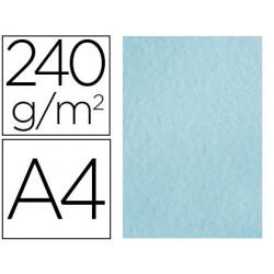 Papel color liderpapel pergamino a4 240g/m2 azul pack de 25