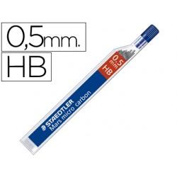 Minas staedtler mars micro grafito 0,5 mm hb tubo con 12 minas