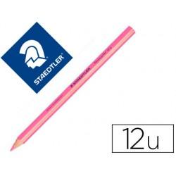 Lapices fluorescente staedtler triangular top star rosa caja de