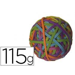 Gomillas elasticas colores q-connect bola de 115 gr