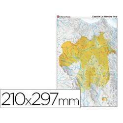 Mapa mudo color din a4 castilla-la mancha fisico 79429-7226-1
