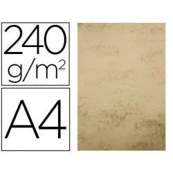 Papel color liderpapel pergamino a4 240g/m2 hueso pack de 25