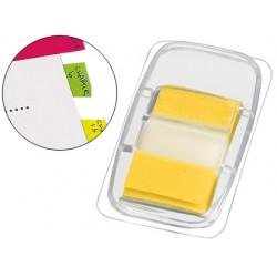 Banderitas separadoras q-connect amarillas dispensador de 50