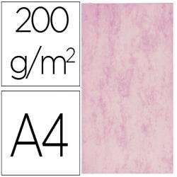 Cartulina marmoleada din a4 200 gr color rosa paquete de 100