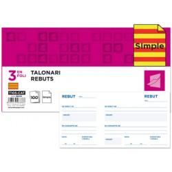 Talonario liderpapel recibos 3/fº original t105 con matriz
