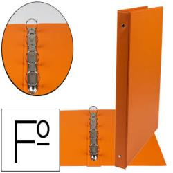 Carpeta liderpapel 4 anillas 25 mm redondas plastico folio