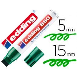 Rotulador edding marcador permanente 850 verde punta biselada