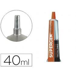 Pegamento supergen contacto incoloro 40 ml unidad