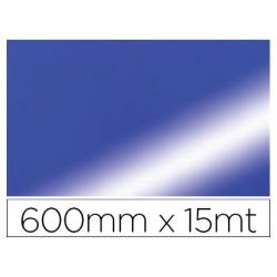 Papel fantasia colibri doble metalizado azul bobina 600 mm x 15
